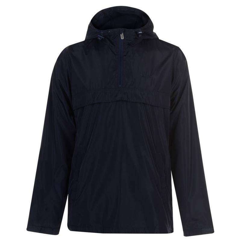 Lee Cooper Quarter Zip Rain Jacket Navy
