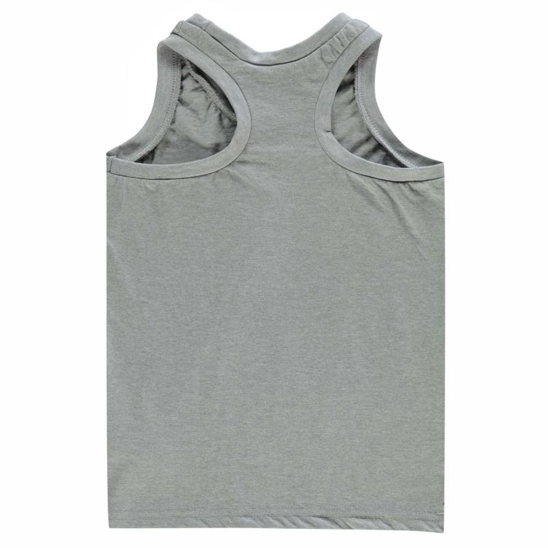 Tílko Slazenger Muscle Vest Junior Boys Grey Marl