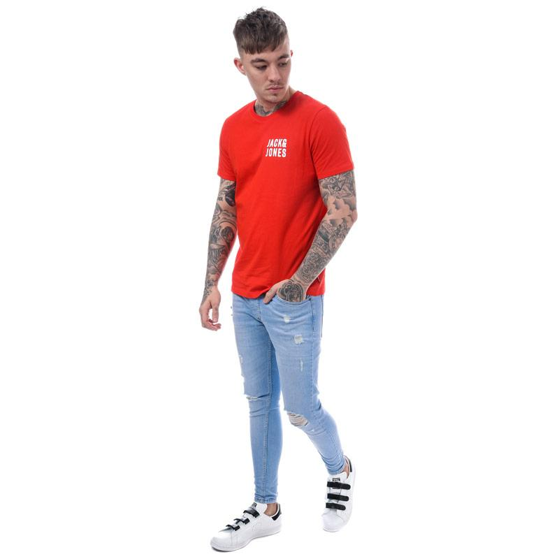 Tričko Jack Jones Mens Chest Logo T-Shirt Red