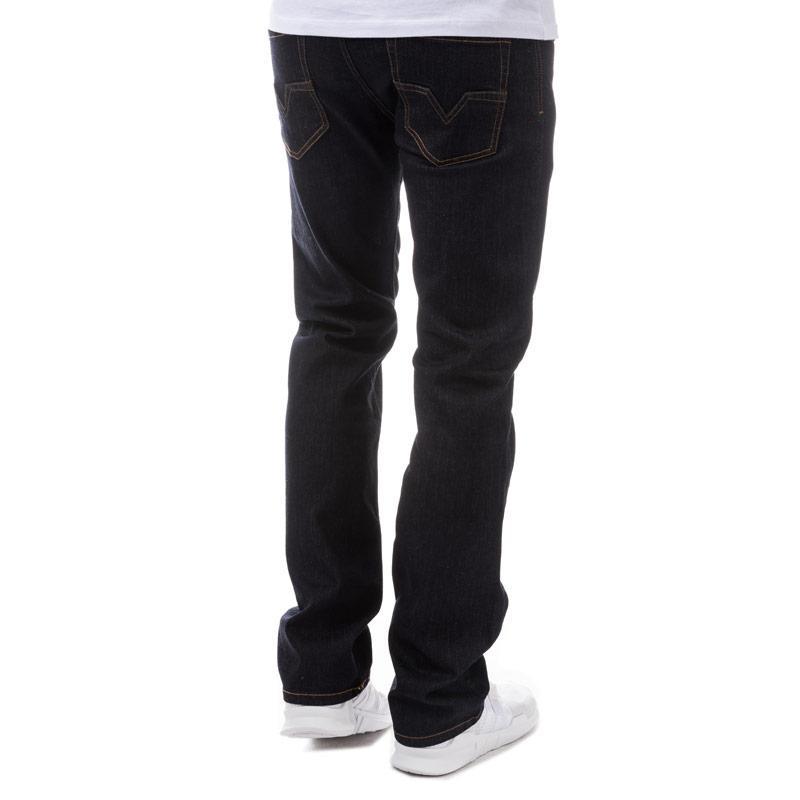 Diesel Mens Larkee Relaxed Regular Straight Jeans Denim