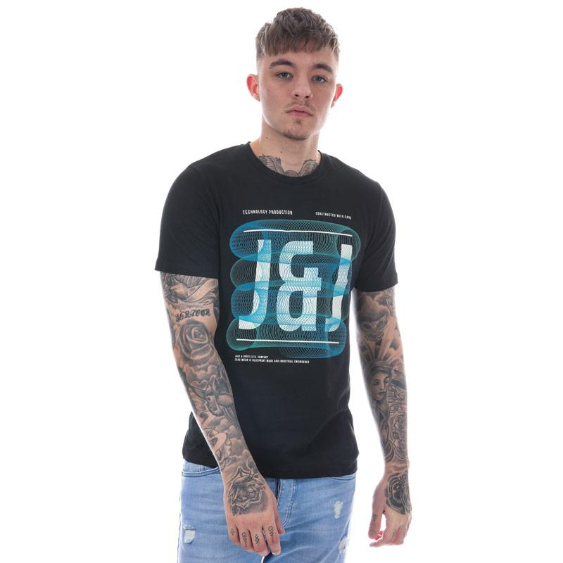 Tričko Jack Jones Mens Spring Feeling Photo T-Shirt Black