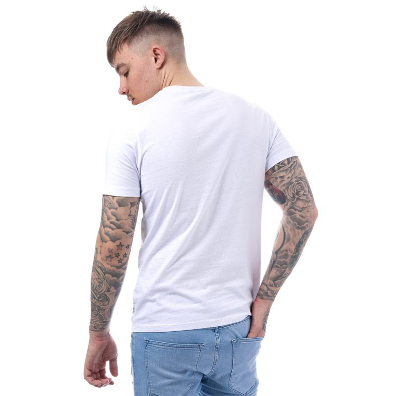 Tričko Jack Jones Mens Spring Feeling Photo T-Shirt White