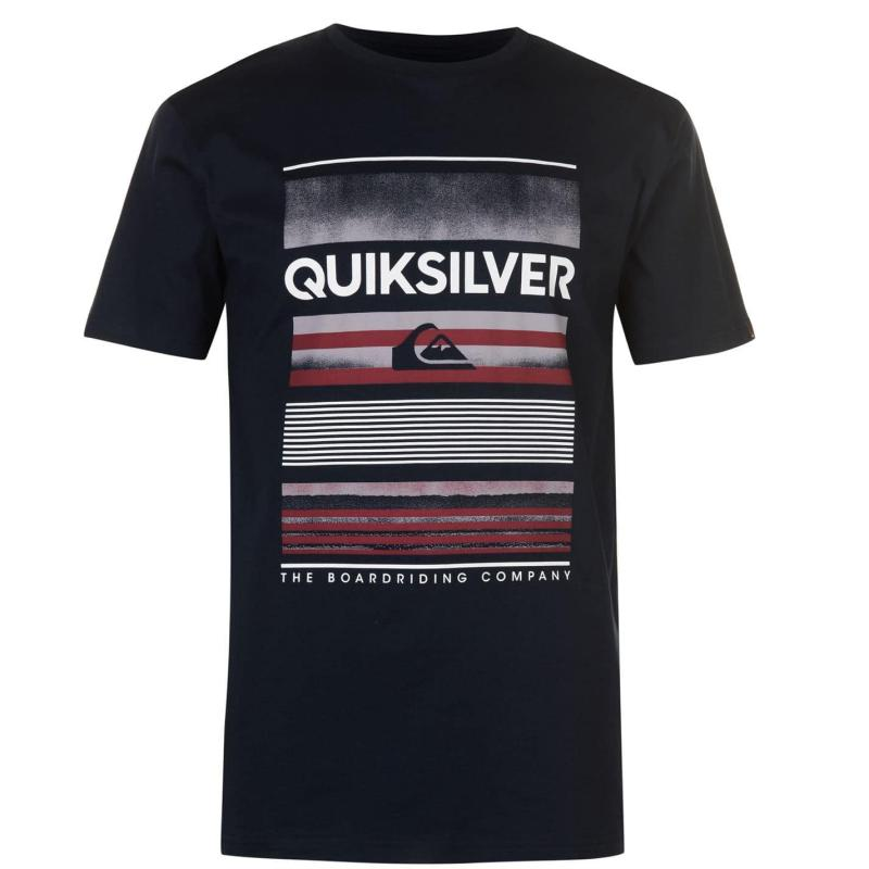 Tričko Quiksilver High Stripes T Shirt Mens Navy Blazer