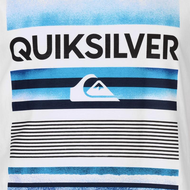 Tričko Quiksilver High Stripes T Shirt Mens White
