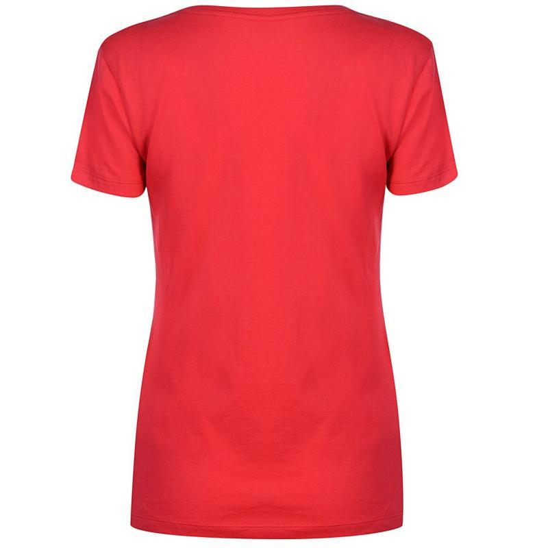 Roxy Beach Club T Shirt Ladies Rouge Red