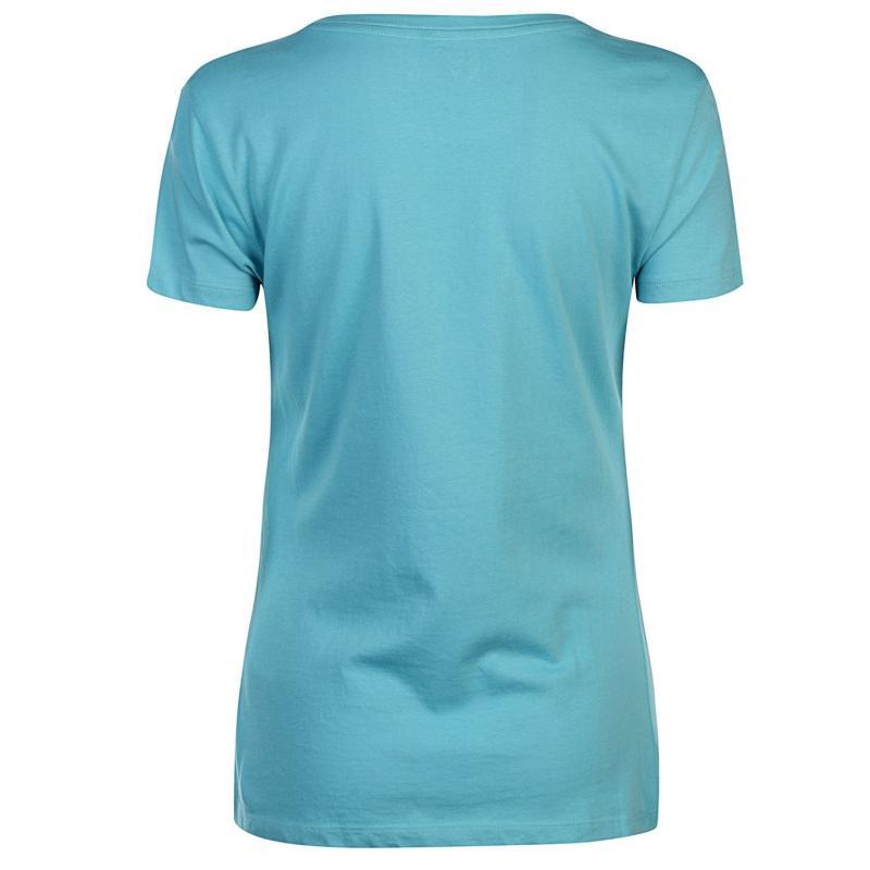 Roxy Itty Be Around The Beach T Shirt Ladies Aquarelle