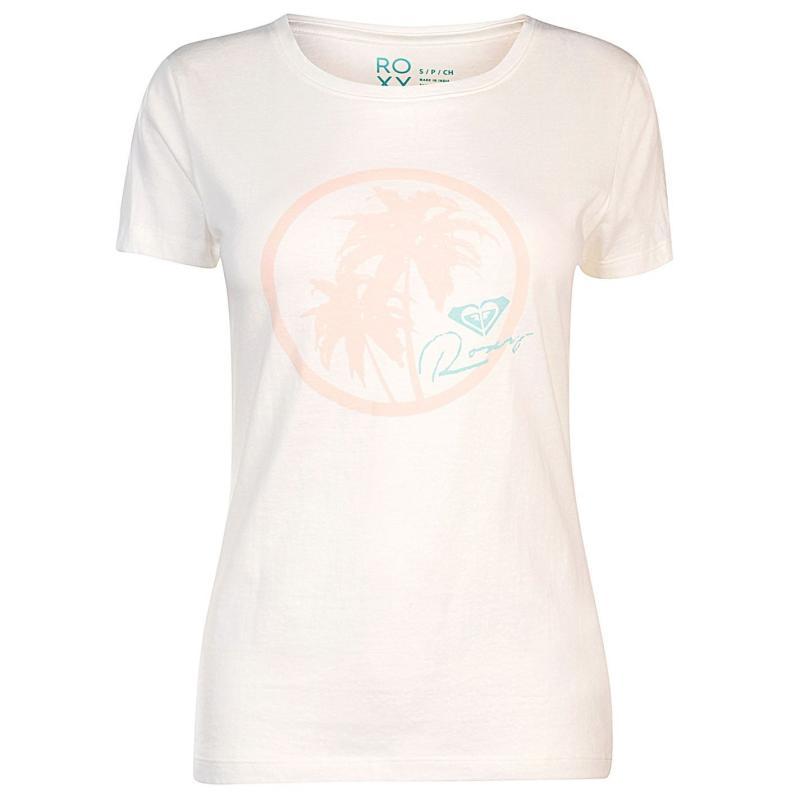 Roxy Itty Be Around The Beach T Shirt Ladies Marshmallow