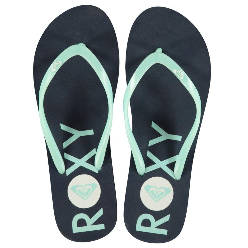 Boty Roxy Logo Ladies Flip Flops Aqua