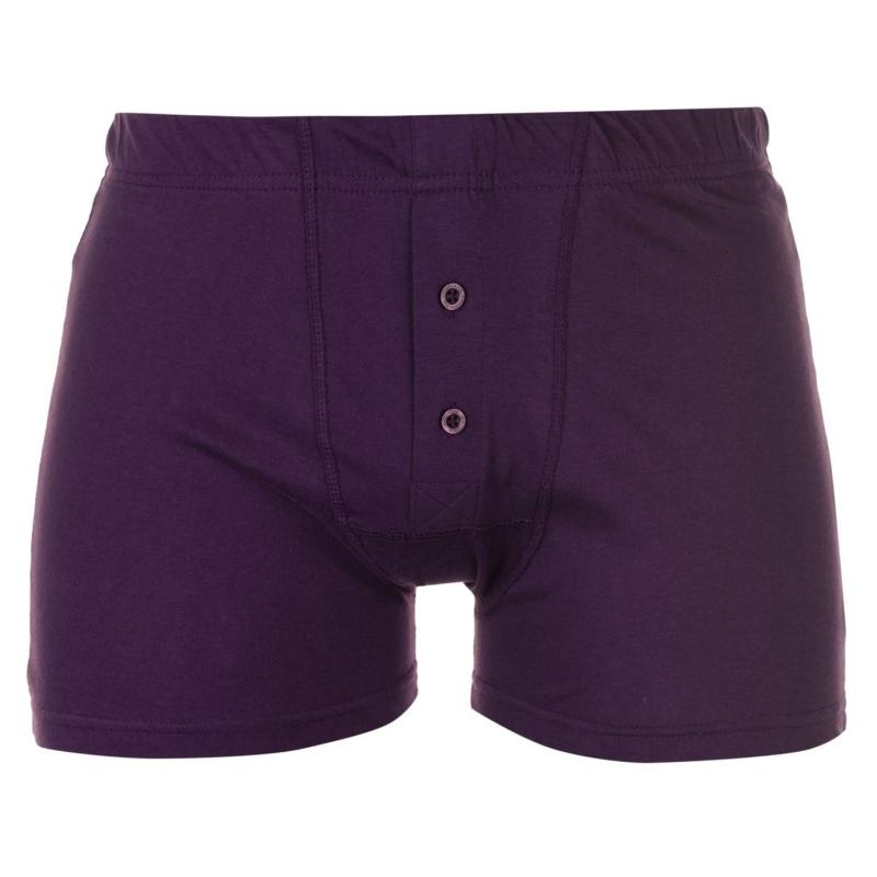Spodní prádlo Slazenger 2 Pack Boxers Mens Purple/Orange
