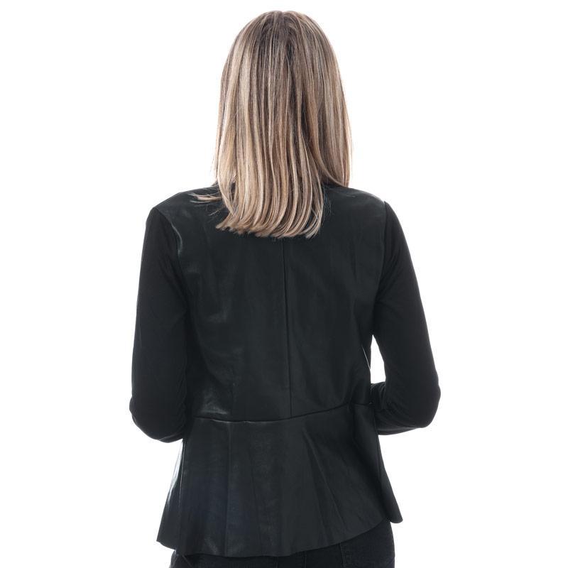 Mela London Womens Contrast Fabric Jacket Black