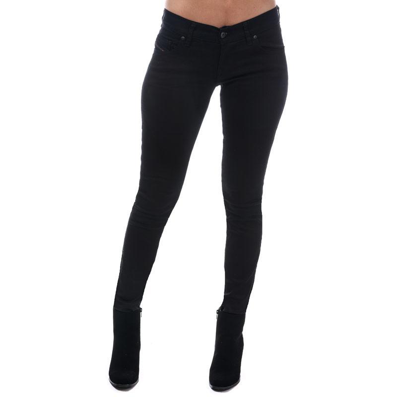 Diesel Womens Grupee Skinny Jeans Black