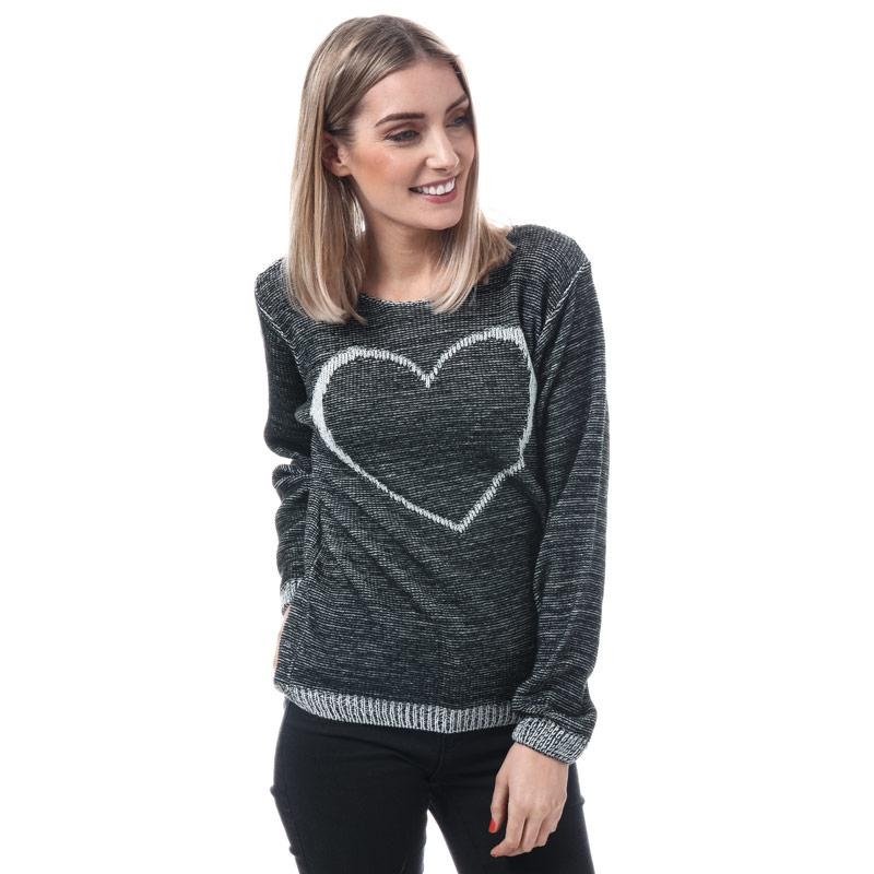 Svetr Mela London Womens Heart Detail Jumper Grey