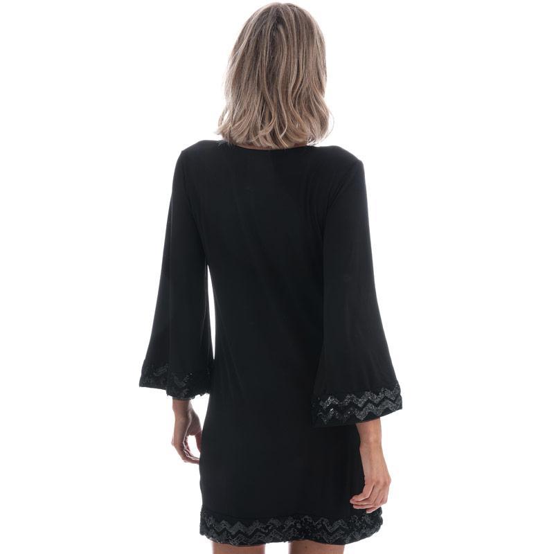 Šaty Mela London Womens Sequin Border Dress Black