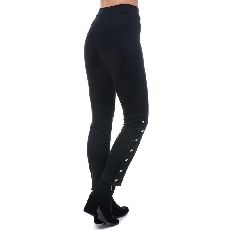 Kalhoty Mela London Womens Side Button Trousers Black