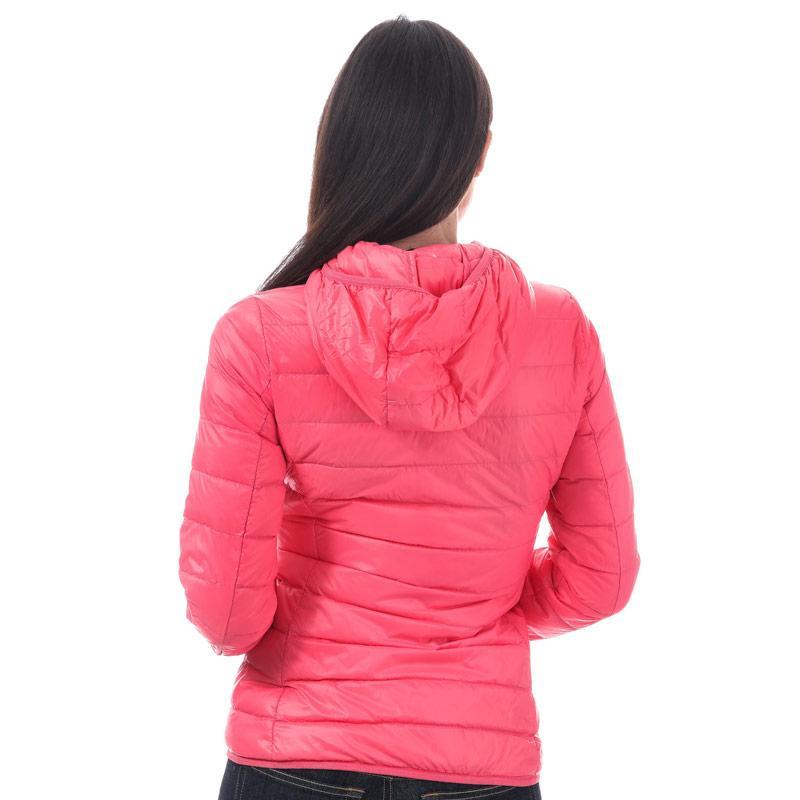Emporio Armani EA7 Womens Train Core Down Jacket Coral