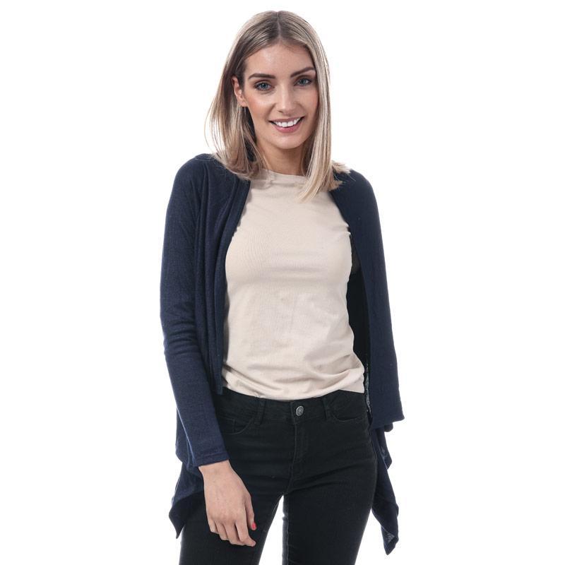 Svetr Mela London Womens Waterfall Knit Cardigan Navy