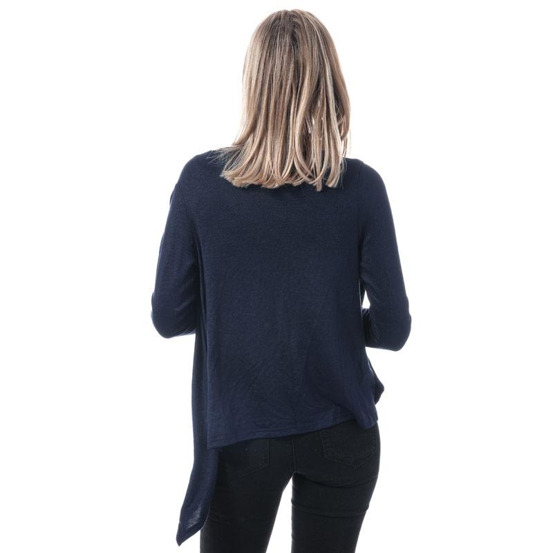 Svetr Mela London Womens Waterfall Knit Cardigan Navy