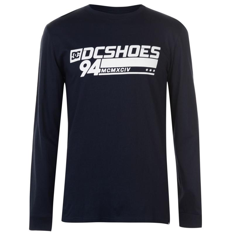 Tričko DC Motors Long Sleeve T Shirt Mens Dark Indigo