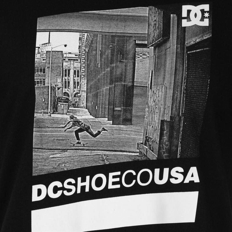 Tričko DC Street Scene T Shirt Mens White Velikost - XL
