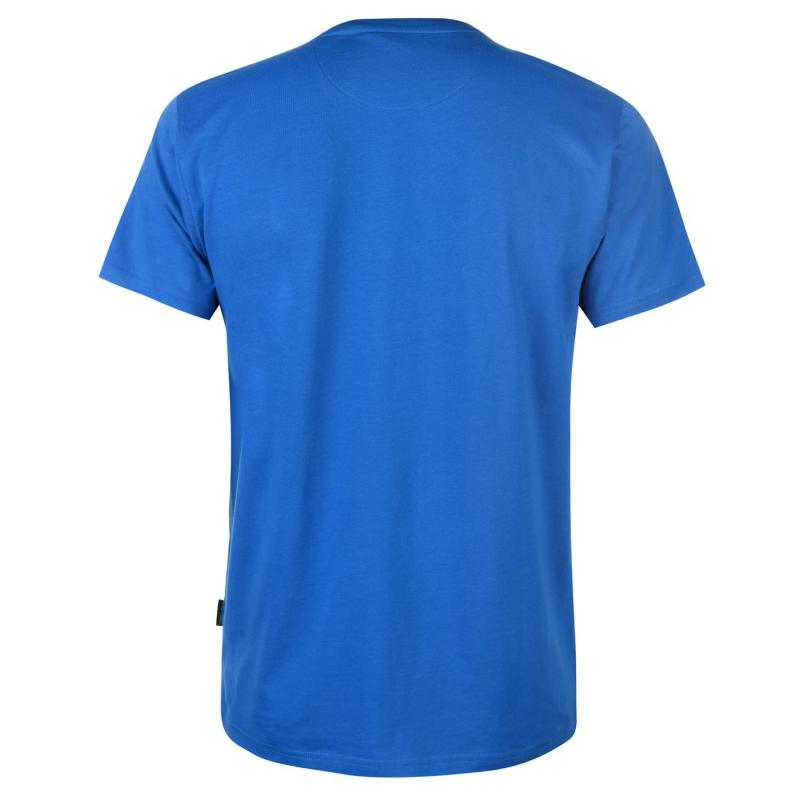 Tričko Pierre Cardin Photo Line Printed TShirt Mens Blue