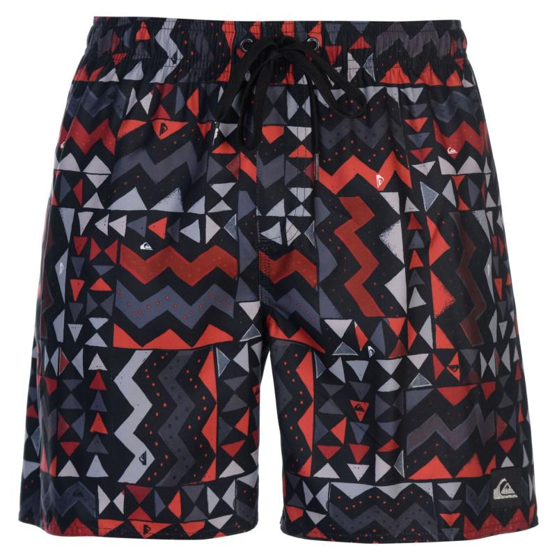 Plavky Quiksilver Check Knock Board Shorts Mens Rio Red