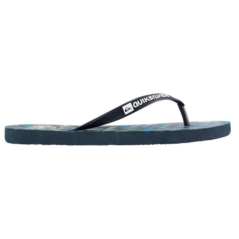 Quiksilver Check Knock Mens Flip Flops Real Teal