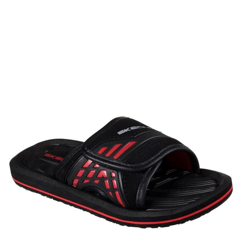 Boty Skechers Adjustable Sliders Child Boys Black/Red