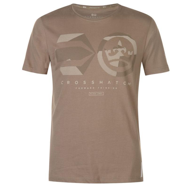 Tričko Crosshatch Dotcam T Shirt Mens Night Sky