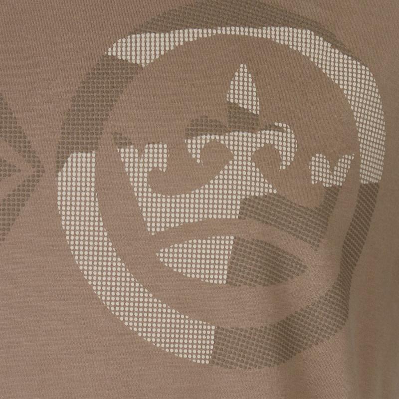 Tričko Crosshatch Dotcam T Shirt Mens Timber Wolf