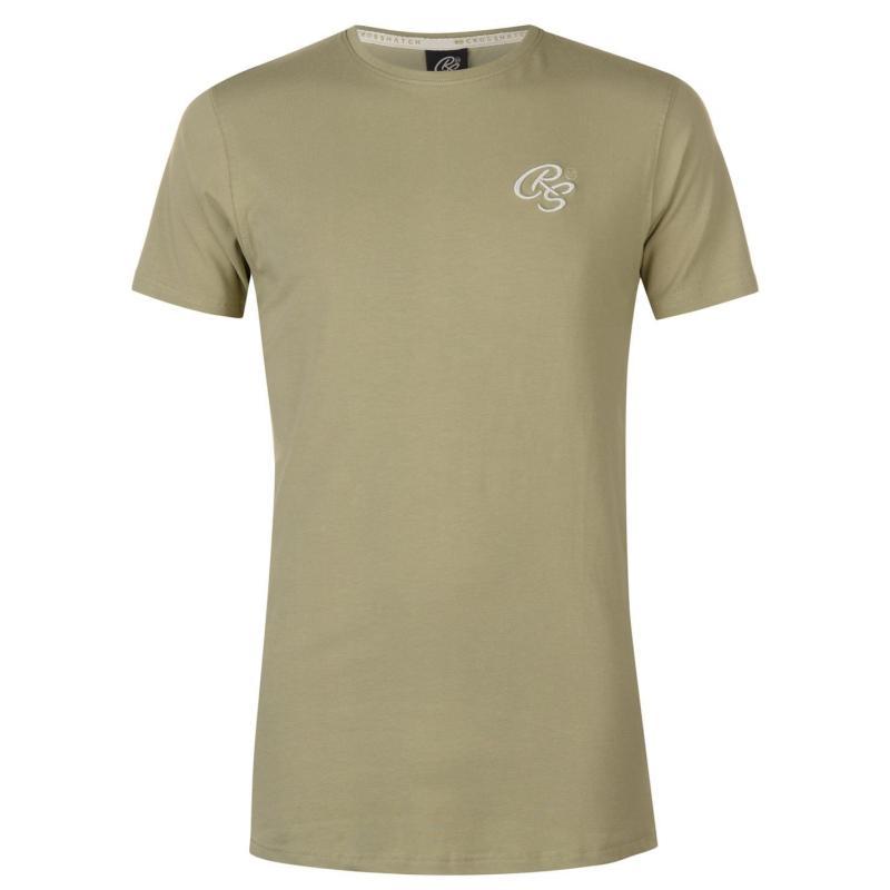 Tričko Crosshatch Hulton T Shirt Mens Ashley Blue