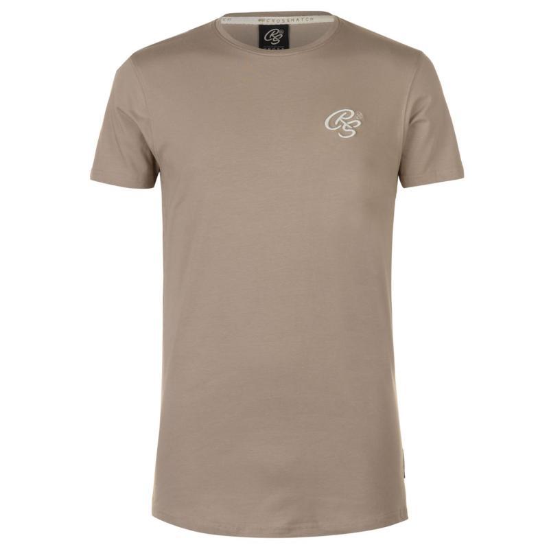 Tričko Crosshatch Hulton T Shirt Mens Moon Rock