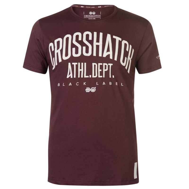 Tričko Crosshatch Shamen T Shirt Mens Gatawba Grape