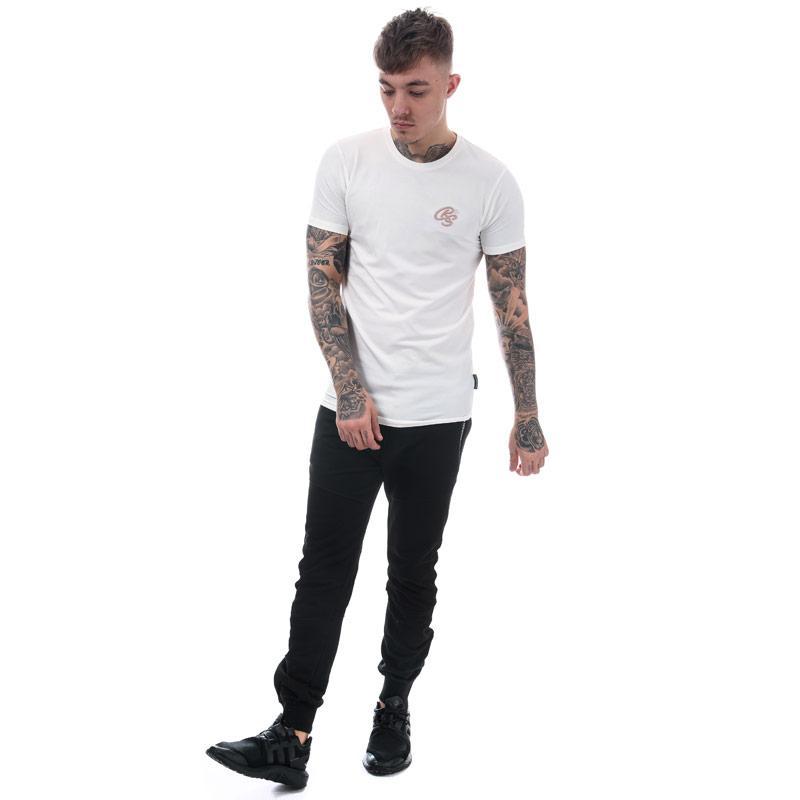 Tričko Crosshatch Black Label Mens Hulton Longline T-Shirt Khaki