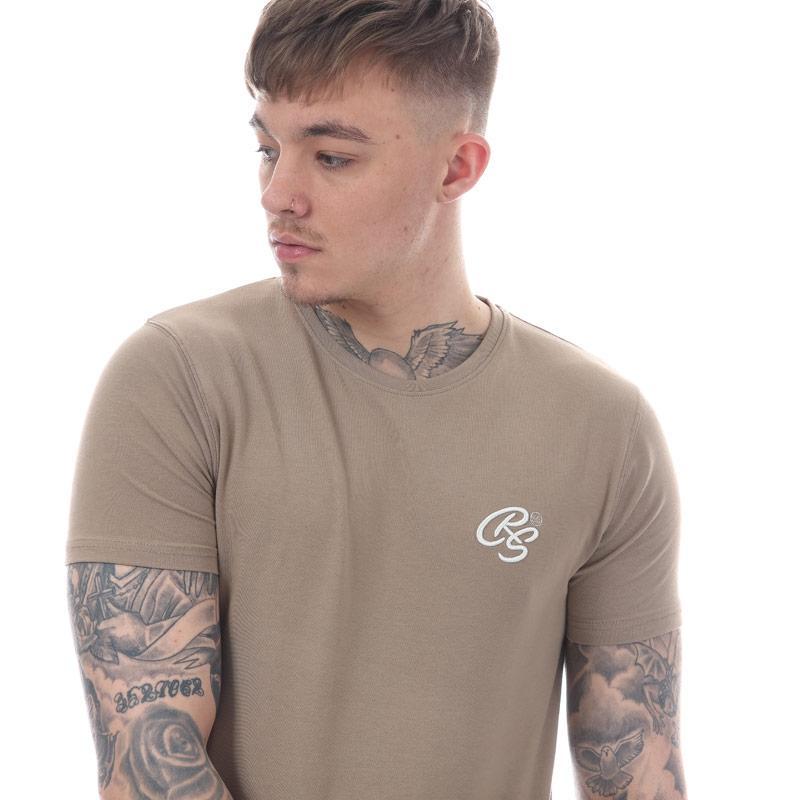 Tričko Crosshatch Black Label Mens Hulton Longline T-Shirt Rose