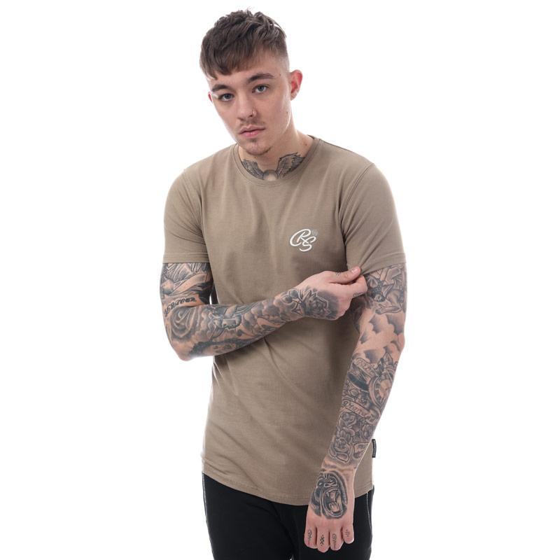 Tričko Crosshatch Black Label Mens Hulton Longline T-Shirt Off White