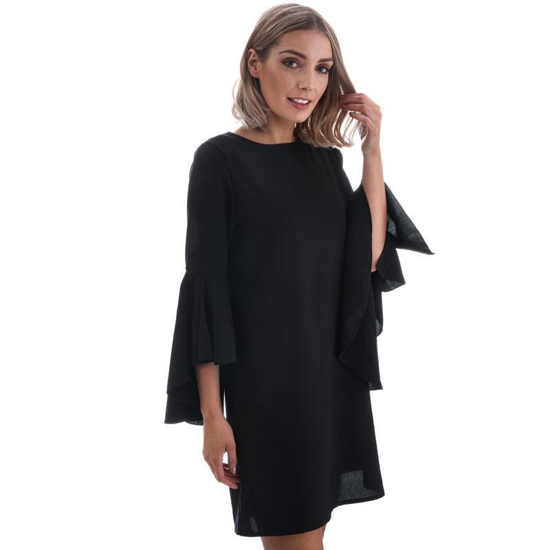 Šaty Mela London Womens Trumpet Sleeve Dress Black