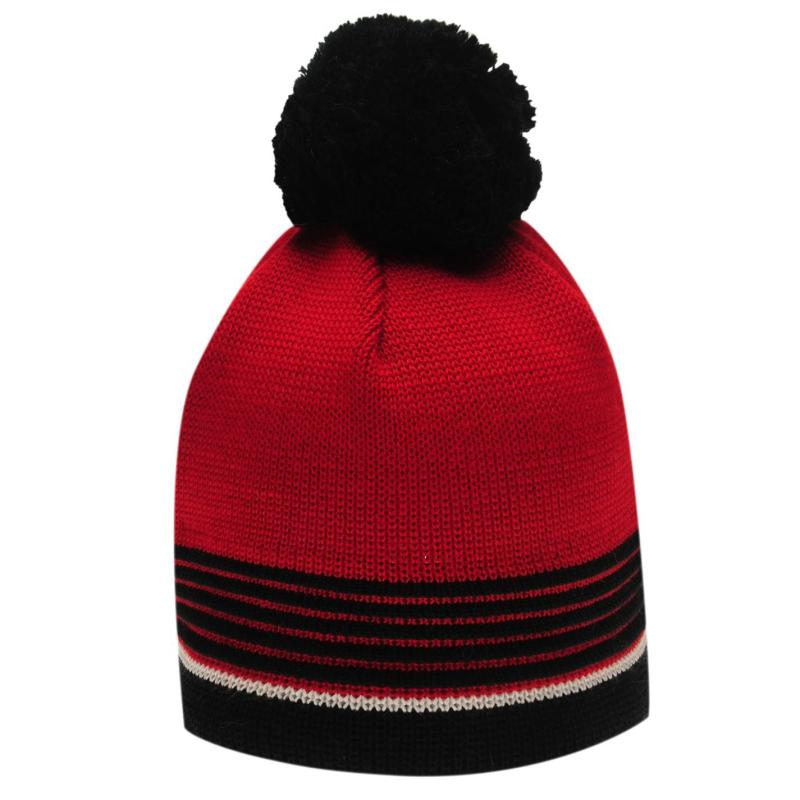 Eisbär Harper Beanie Hat Mens Black/Red