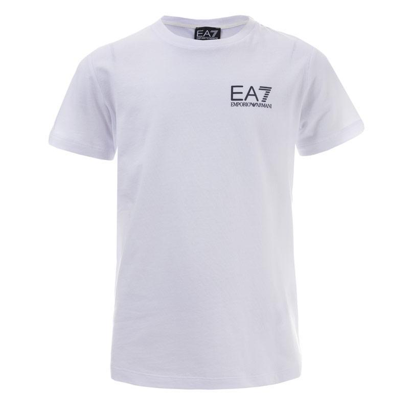 Tričko Emporio Armani EA7 Junior Boys Train Core ID T-Shirt White