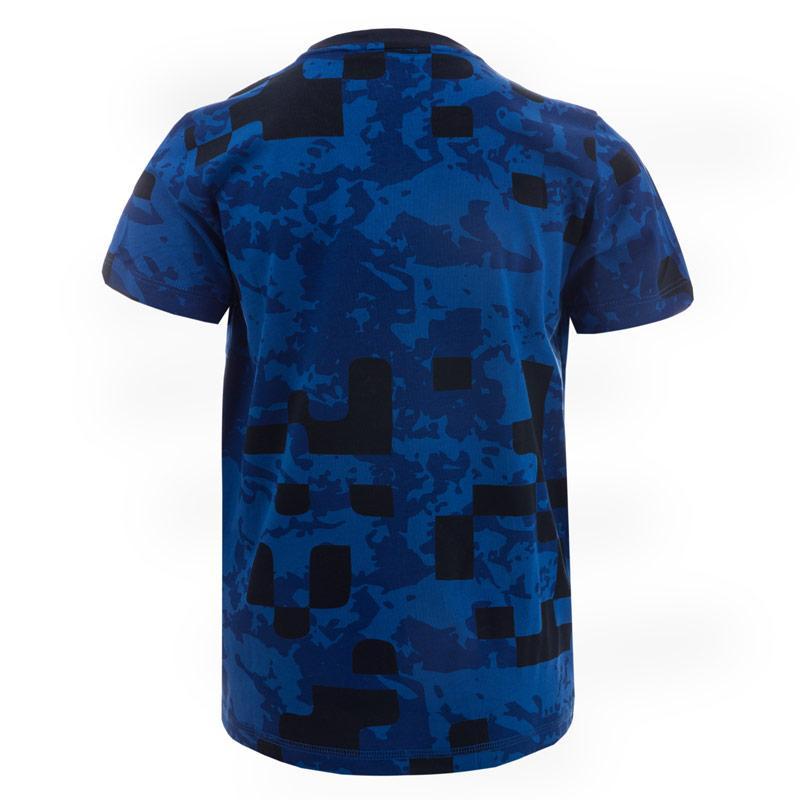 Tričko Emporio Armani EA7 Junior Boys Train Graphic Camo T-Shirt Blue