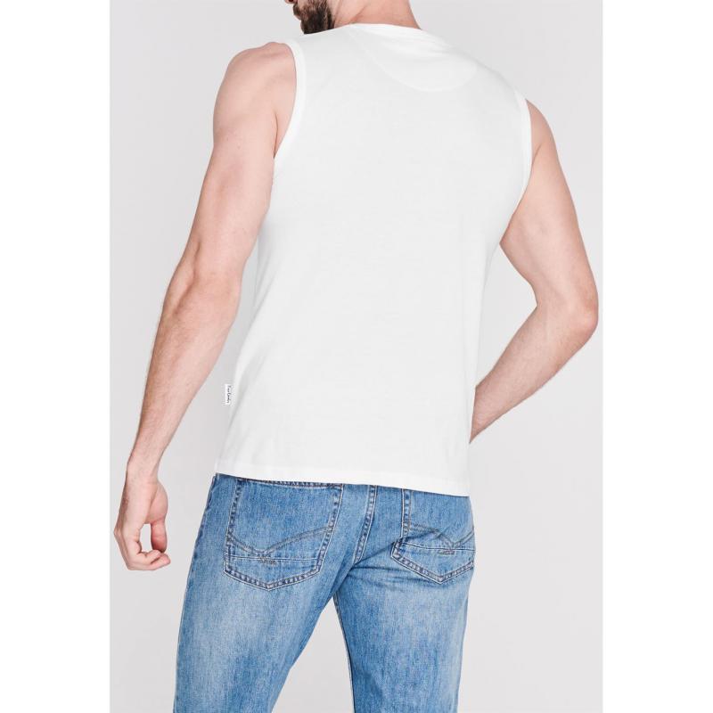 Tílko Pierre Cardin Graphic Vest Mens White