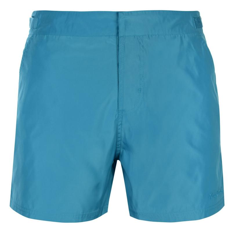 Plavky Pierre Cardin Mid Length Swim Shorts Mens Teal