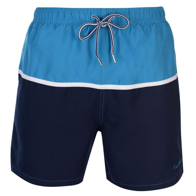 Plavky Pierre Cardin Panel Swim Shorts Mens Turq/Wht/Navy