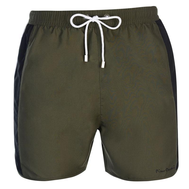 Plavky Pierre Cardin Panelled Swim Shorts Mens Khaki/Blk/Wht