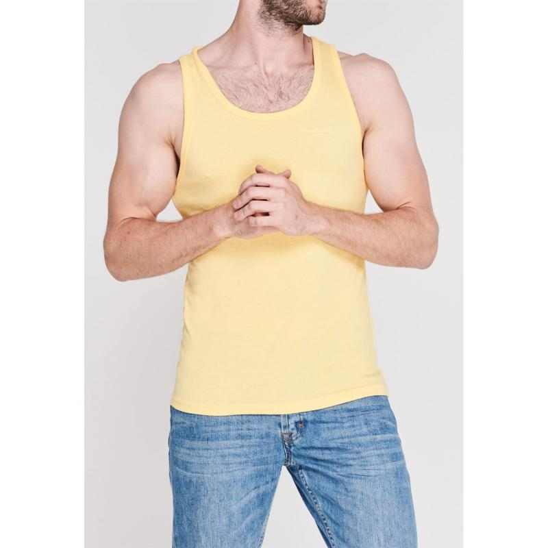 Tílko Pierre Cardin Plain Vest Mens Yellow