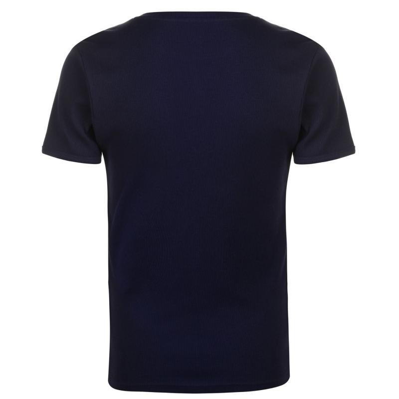 Tričko Pierre Cardin Ribbed Crew T Shirt Mens Navy