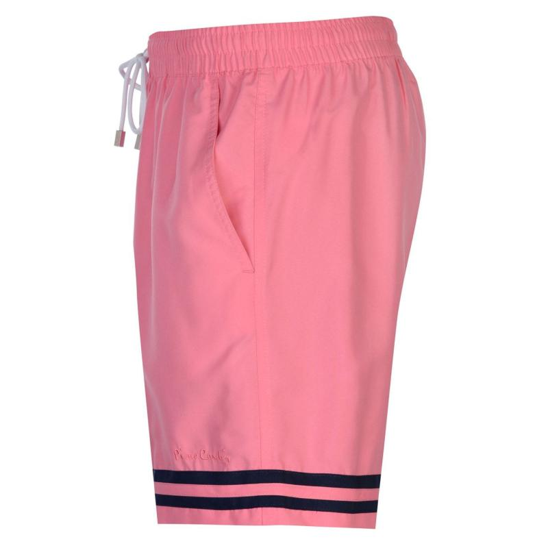 Plavky Pierre Cardin Stripe Swim Shorts Mens Pink