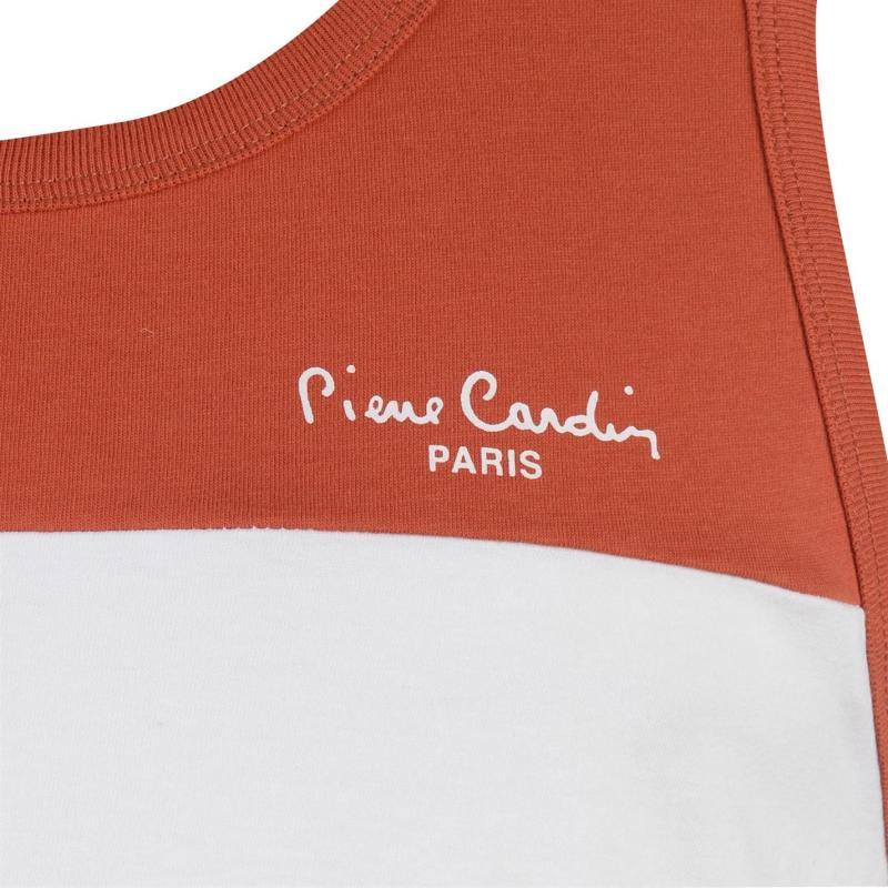 Tílko Pierre Cardin Cut and Sew Vest Mens Blk/Whte/Khaki