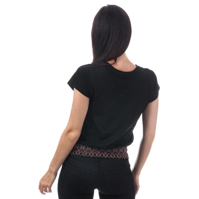 Brave Soul Womens T-Shirt With Shirring Detail Black