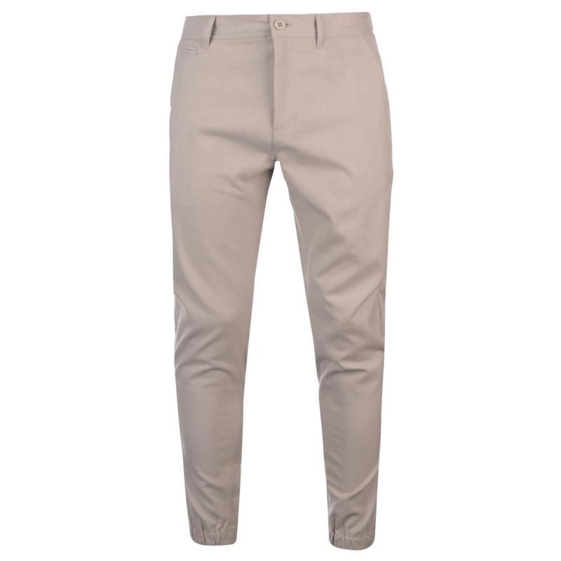 Kalhoty Kangol Cuffed Chinos Mens Grey