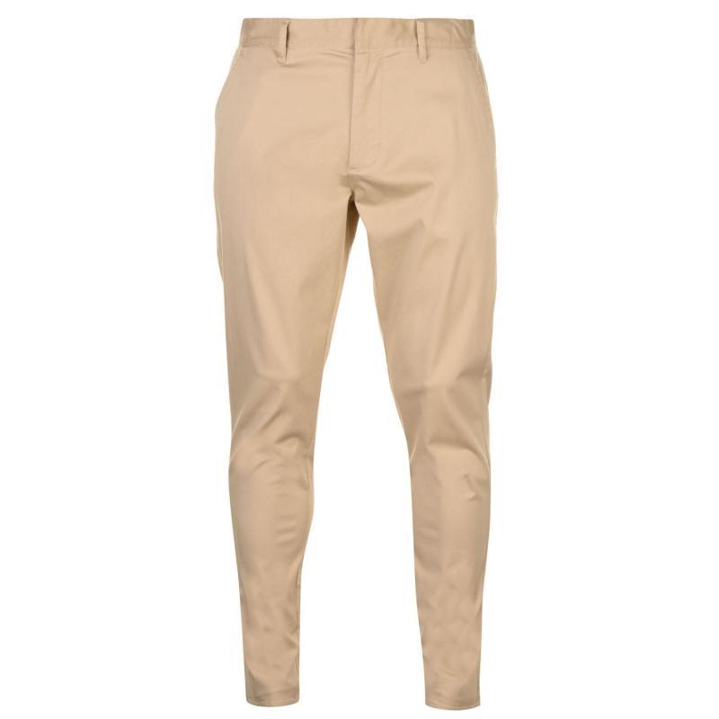 Kalhoty Kangol Slim Chinos Mens Warm Sand